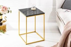Dizajnový odkladací stolík Tristen čierny mramor