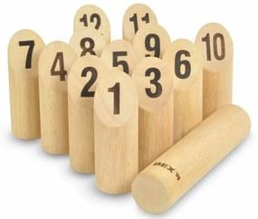 Kubb s číslami - zahradná hra