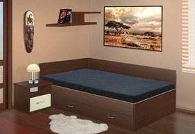 posteľ s úložným priestorom Renata 160x200 cm lamino: ořech, boční čela: bez bočních čel