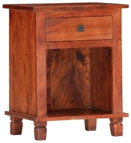 vidaXL Nočný stolík 40x30x50 cm, akáciový masív