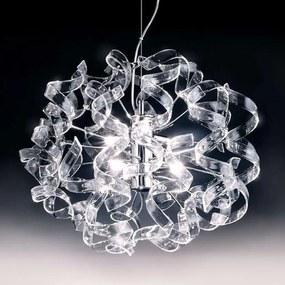 Závesná lampa Crystal, oválna