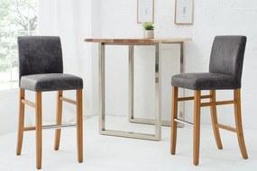 Barová stolička Clemente sivá vintage