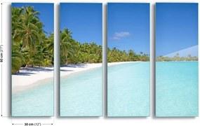 Obraz na skle GLIX - Slice Of Paradise 4 x 30x80 cm