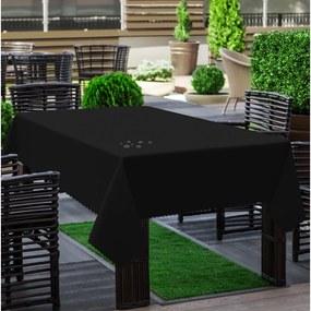 Záhradný obrus hladký čierny
