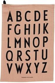 DESIGN LETTERS Bavlnená utierka Letters (limitovaná edícia) - set 2ks