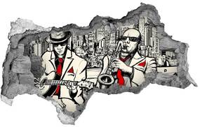 Fototapeta diera na stenu 3D New york jazz nd-b-58689971