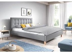 Čalúnená posteľ DAVID šedá rozmer 140x200 cm