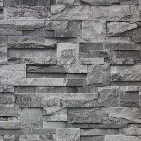 Vinylové tapety, kamenná stena sivá, J27409 UGEPA, rozmer 10,05 m x 0,53 m