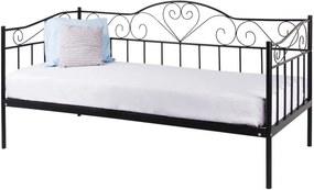 Hector Kovová postel Linnea New 90x200 jednolůžko černé