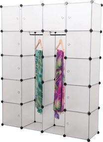[neu.haus]® Polica so skrinkami - biela - DIY variabilný systém - model 4