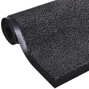 vidaXL Obdĺžniková protišmyková rohožka, antracitová farba 90 x 60 cm