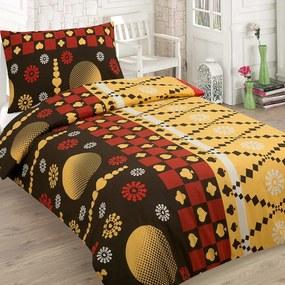 HOD Bavlnené posteľné obliečky MARKO žlté 5 set 200x220cm