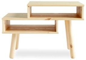 Konferenčný stolík z borovicového dreva v prírodnej farbe Karup Design Haku