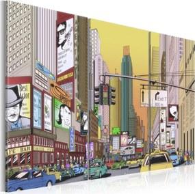 Obraz - Cartoon city 120x80