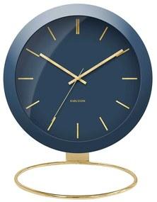 KARLSSON Stolné hodiny Globe modré