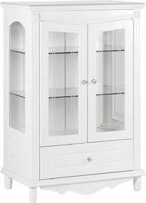 Presklená 2 dverová biela vitrína Victoria 860