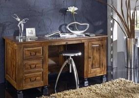 Bighome - KOLONIAL Písací stôl so zásuvkami 150x70 cm, palisander
