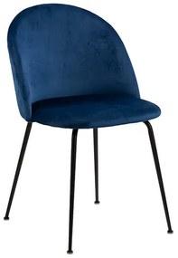 Louise jedálenská stolička modrá