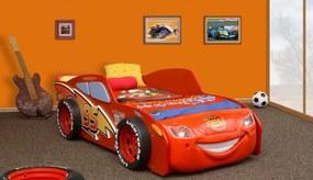 Auto MCqueen MDF s LED diódami detská posteľ - Výpredaj