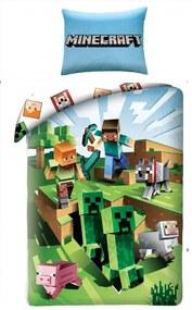 HALANTEX Obliečky Minecraft Farma Bavlna 140/200, 70/90 cm
