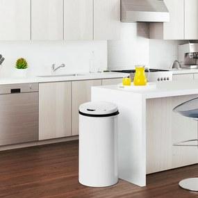 Jurhan & Co.KG Germany Senzorový odpadkový kôš 40 l - biely