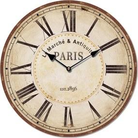 Isabelle Rose Nástenné retro hodiny motív Paris 29 cm