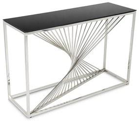 DekorStyle Konzolový stolík LAINE strieborný