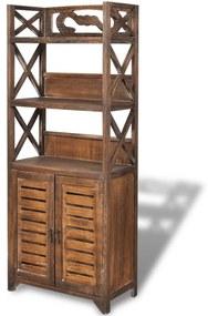 vidaXL Skrinka do kúpeľne ''Albuquerque'', drevo, hnedá 46x24x117,5 cm