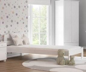 AMI nábytok Posteľ borovica Marcelína 90x200 masív biela