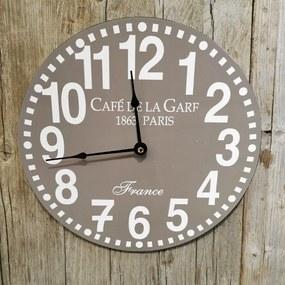drevené hodiny sivé 30cm