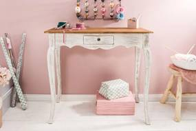 Písací stôl Miley, biely / mahagón