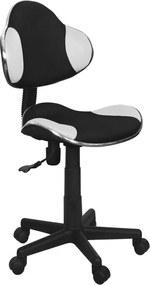 SIGNAL Q-G2 kancelárska stolička biela / čierna