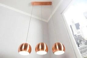 Závesné svietidlo Copper Ball medené gule