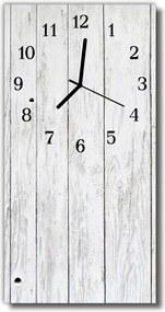Nástenné hodiny vertikálne  biele drevo