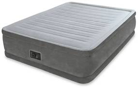 91062 Intex Semišový nafukovací PVC matrac, 152x203x46 cm, biely, 64414