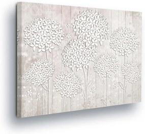 GLIX Obraz na plátne - White-leaved Flowers on White Background 80x60 cm