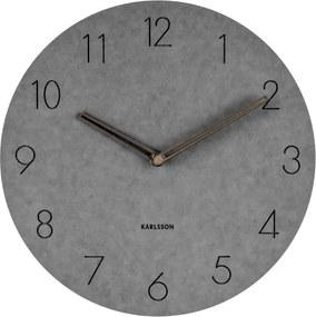 Sivé nástenné drevené hodiny Karlsson Dura, Ø 29 cm