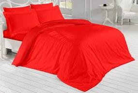 Brotex Obliečky Satén Exclusive červená 240x220/2x70x90 cm