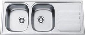 Sinks nerezový drez Okio 1200 DUO V matný