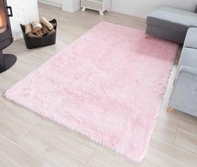MAXMAX Plyšový koberec TOP - SVETLO RUŽOVÝ