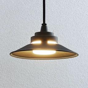 Vonkajšie závesné LED svietidlo Cassia tmavosivé