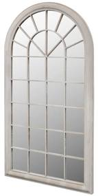 vidaXL Rustikálne záhradné zrkadlo 60x116 cm, do interiéru a exteriéru