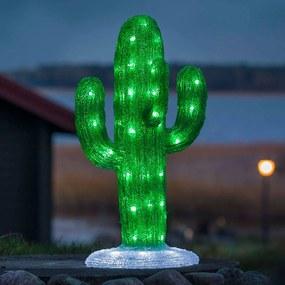 Vonkajšia LED dekorácia akrylový Kaktus