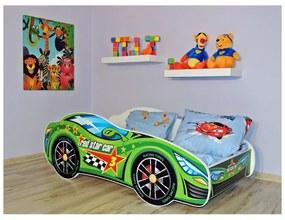 Detská posteľ Racing zelený 140x70