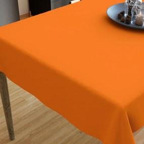 Goldea bavlnený obrus - oranžový 120 x 120 cm