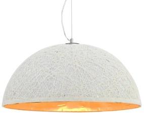 vidaXL Závesná lampa biela a zlatá Ø50 cm E27