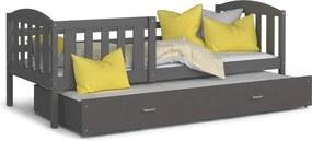 GL Rozkladacia posteľ Kuba P2 Sivá Rozmer: 190x80