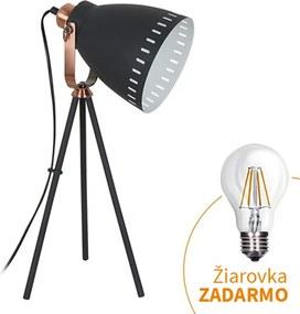 Stolná lampa, čierna, TORINO WA002-B