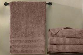 XPOSE ® Froté ručník CHINGY - světle hnědá 50x90 cm