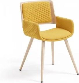 ANDREAS stolička horčicová Žltá